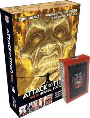 Attack on Titan 16 Manga Special Edition with Playing Cards Cover Image