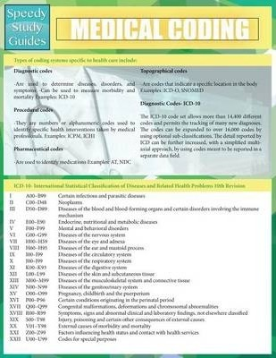 Medical Coding (Speedy Study Guides: Academic)