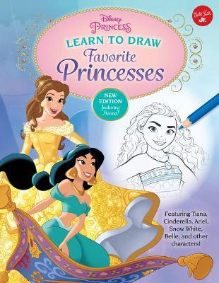 Disney Princess Learn to Draw Favorite Princesses  Featuring Tiana, Cinderella, Ariel, Snow White, Belle, and Other Characters!
