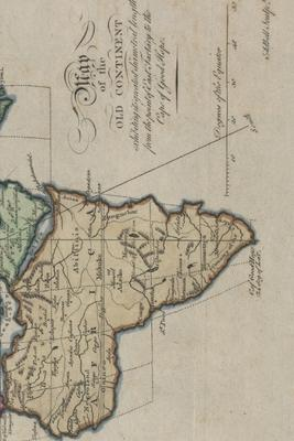18th Century Map of the Old Continent  A Poetose Notebook / Journal / Diary (50 pages/25 sheets)