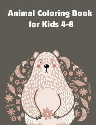 Animal Coloring Book for Kids 4-8