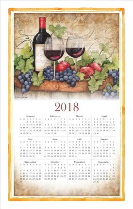 2018 Wine Country Calendar Towel