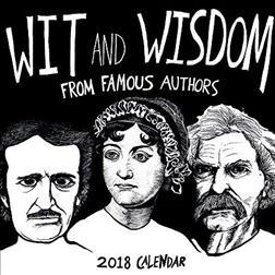 Wit and Wisdom from Famous Authors 2018 Calendar