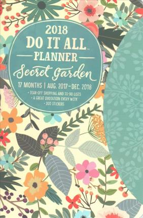 Secret Garden Do It All 17-Month 2018 Planner