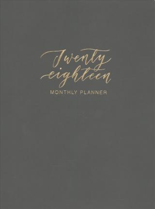 Clearly Charcoal Leatheresque Monthly Planner