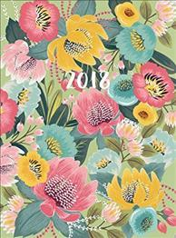 Bold Blossoms Extra 2018 Large Flexi Planner
