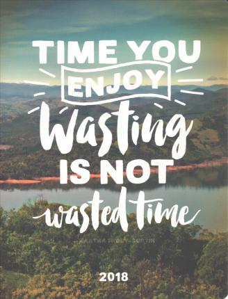 Time You Enjoy Wasting Just Right 17-Month 2018 Monthly Planner