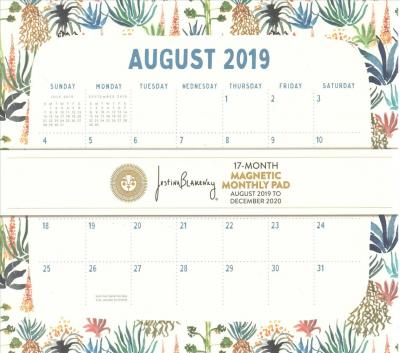 Botanicals Magnetic 17 Month Monthly Pad 2020