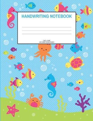 Handwriting Notebook  Fish; 100 sheets/200 pages; 7.44 x 9.69