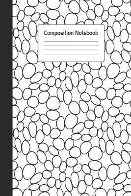 Composition Notebook : Stylish White Black Circle Bubbles Notepad For School or Work. 6 x 9 Line College Ruled Journal With Soft Matte Cover.