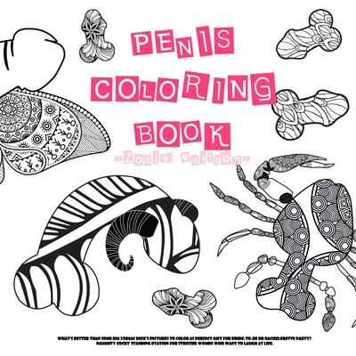 Penis adult coloring book! -Zodiac edition-