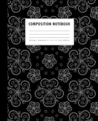 Composition Notebook  Black + White Dotted Mandalas - Wide Ruled