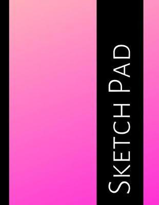 Sketch Pad  Blank Sketchbook - Art and Drawing Paper Notebook - Large, 8.5x11 inches - Pink