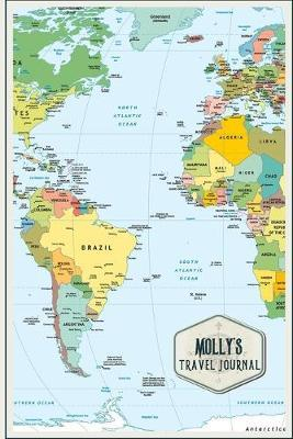 Molly's Travel Journal  Personalized Travelers Notebook & Planner with Travel Checklist