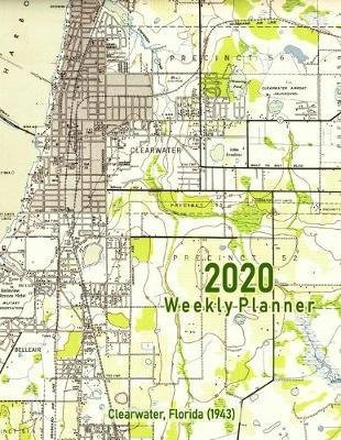 2020 Weekly Planner  Clearwater, Florida (1943) Vintage Topo Map Cover