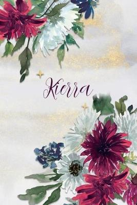 Kierra  Personalized Journal Gift Idea for Women (Burgundy and White Mums)