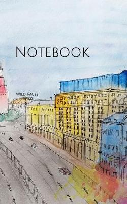 Notebook : Moscow watercolor Russia Russian Tsar red square history