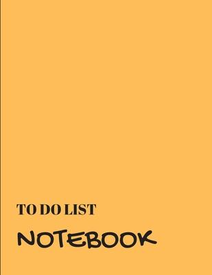 To Do List Notebook  Light Orange With Priority Tasks with Due Date - Personal and Business Activities with Level of Importance