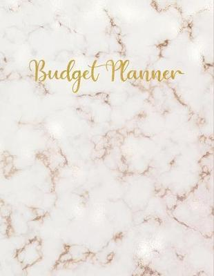 Budget Planner  Rose Gold Marble Finance Workbook for College Students, Monthly Budget Tracker for Beginners, Saving Goals, Large Organizer