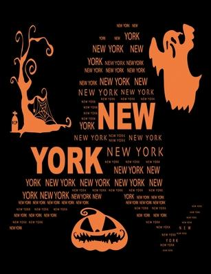 New York  Unruled Blank Sketch Notebook 7.44 x 9.69 100 pages 50 sheets