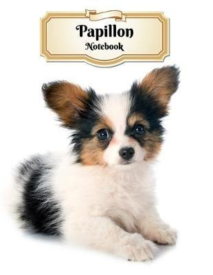 Papillon Notebook  Puppy - Composition Book 150 pages 8.5 x 11 in. - College Ruled - Writing Notebook - Lined Paper - Soft Cover - Plain Journal