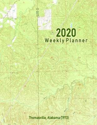 2020 Weekly Planner  Thomasville, Alabama (1973) Vintage Topo Map Cover