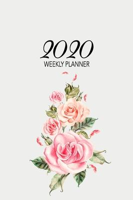 2020 Weekly Planner  At-a-glance Week-per-Page Diary With Journal Pages, January-December (Flower Arrangement Cover)