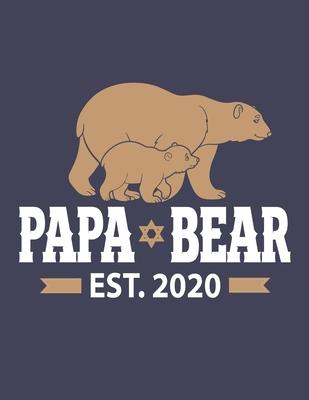 Papa Bear Est.2020  Pregnancy Planner And Organizer, Diary, Notebook Mother And Child