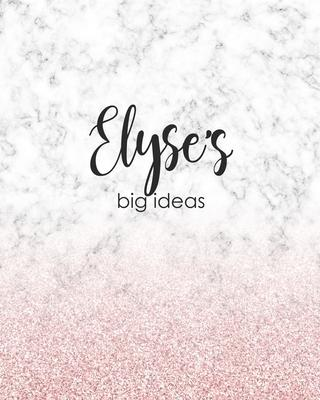 Elyse's Big Ideas  Personalized Notebook - 8x10 Lined Women's Journal
