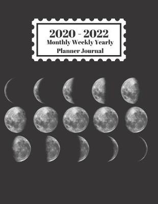 2020 - 2022 Monthly Weekly Yearly Planner Journal  Moon Phases Design Cover 2 Year Planner Appointment Calendar Organizer And Journal Notebook
