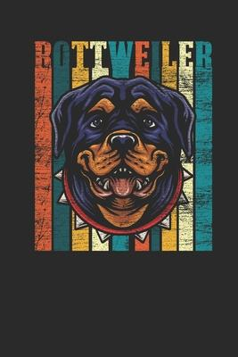 Rottweiler Retro : Rottweiler Dogs Notebook, Graph Paper (6 x 9 - 120 pages) Animal Themed Notebook for Daily Journal, Diary, and Gift