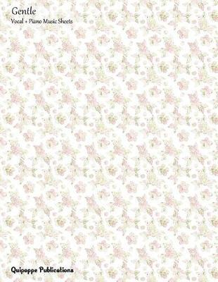 Gentle Vocal + Piano Music Sheets  Vocal and Piano Music Sheets and Songwriting Notebook, Gentle Pink Ranunculus Pattern Msvocpiano Cover, 8.5x11, 200 Pages