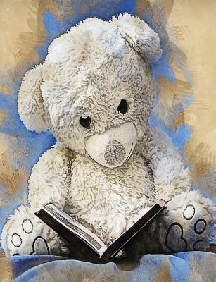 Grunge Teddy Bear Journal, Wide Ruled : Blank Daily Writing Notebook Diary with Lines
