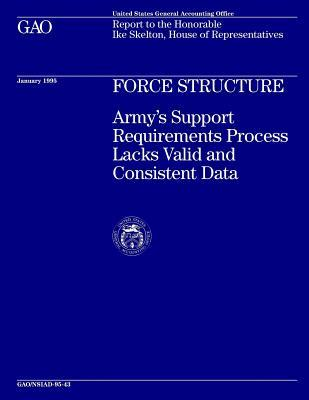 Force Structure : Army's Support Requirements Process Lacks Valid and Consistent Data