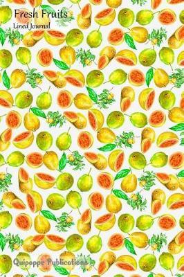Fresh Fruits Lined Journal  Medium Lined Journaling Notebook, Fresh Fruits Guava Pattern Cover, 6x9, 130 Pages