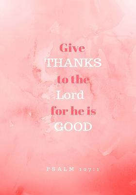 Give Thanks  Prayer Journal, Notebook with Prompts, 7x10, Dark Pink