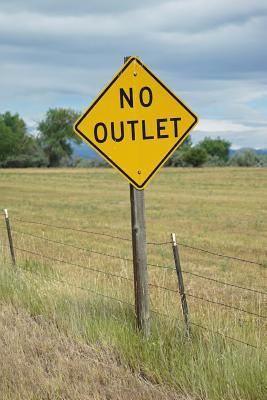 No Outlet Road Sign Journal  150 Page Lined Notebook/Diary
