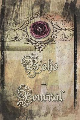 Boho Journal : 140 Lined Pages Softcover Notes Diary, Creative Writing, Class Notes, Composition Notebook - Montage Antiqued Rose