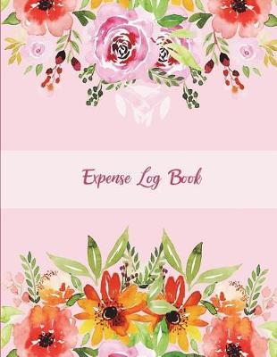 Expense Log Book  Pink Floral, Daily Expense Tracker Large Print 8.5 x 11 Money Spending Journal, Personal Expense Tracker