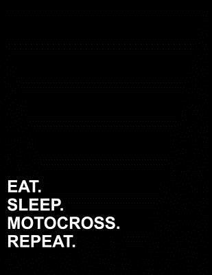 Eat Sleep Motocross Repeat  Four Column Ledger Cash Book, Accounting Ledger Notebook, Business Ledger Book, 8.5 x 11, 100 pages