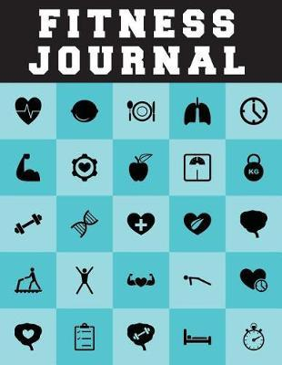 Fitness Journal  Exercise Journal and Food Journal for Record 100 Days - 8.5x11 Large Print with 108 Pages Notebook and Journal Gym Journal