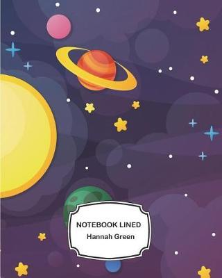 Notebook Lined  Galaxy planet and stars background Notebook Journal Diary, 120 pages, 8 x 10