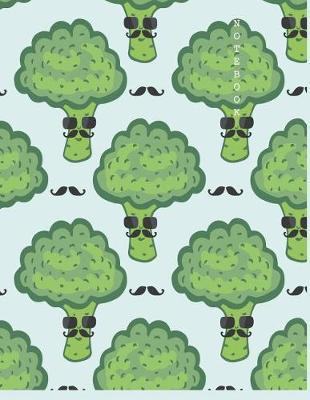 Notebook  Broccoli cover and Dot pages, Extra large (8.5 x 11) inches, 110 pages, notebooks and journals