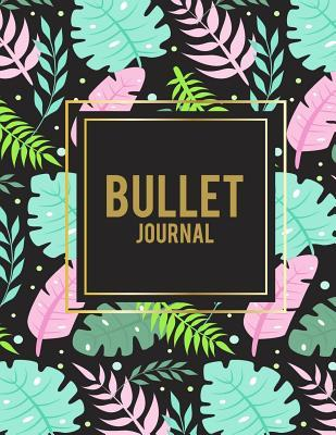 Bullet Journal  Summer Floral, 8.5 X 11 Dot Grid Sketchbook Journal, Daily Notebook to Write In, Dotted Journal