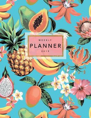 Weekly Planner 2019  Tropical Flowers - 8.5 X 11 in - 2019 Organizer with Bonus Dotted Grid Pages + Inspirational Quotes + To-Do Lists - Hawaiian
