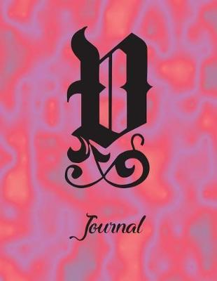 V Journal  8 1/2 X 11 Notebook 120 Pages Wide Ruled Lined for Writing. Personalized Monogram Name Initial Elegant Font Design.