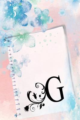 G  Monogrammed Notebook Journal for a woman or girl with the initial G.