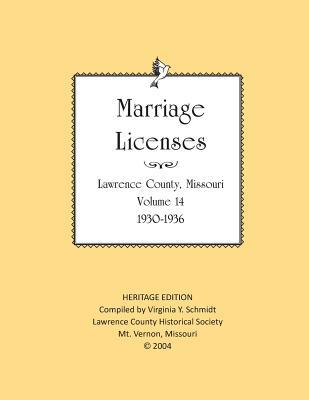 Lawrence County Missouri Marriages 1930-1936