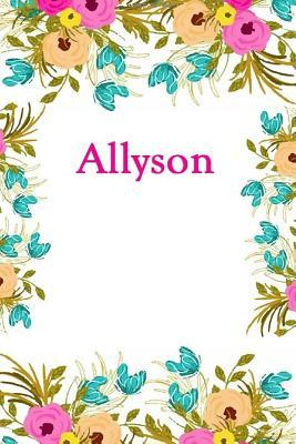 Allyson  Allyson Journal Diary Notebook