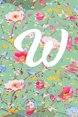 W  W Initial Blank Lined Journal with a Floral Cover, Perfect Gift for Anyone!